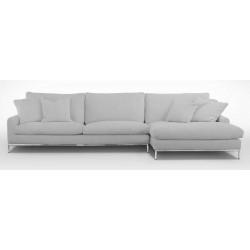 Canapé d'angle droit en tissu velours déhoussable noir