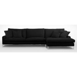 Canapé d'angle en tissu déhoussable