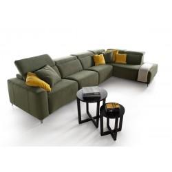 Canapé d'angle relax cuir ou tissu Rosini