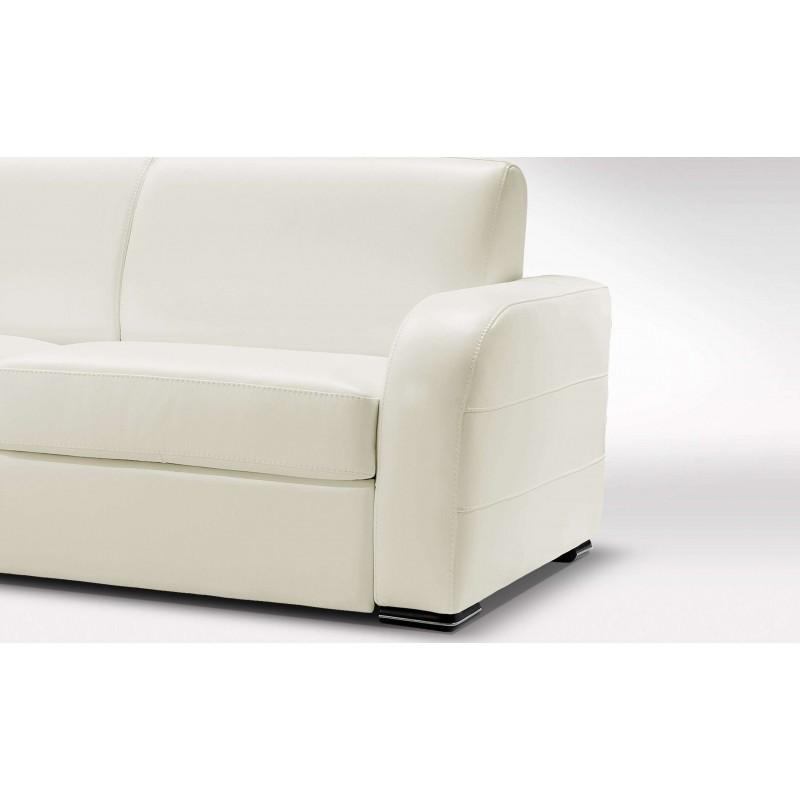 canap cuir blanc cr me haut de gamme italien stock. Black Bedroom Furniture Sets. Home Design Ideas