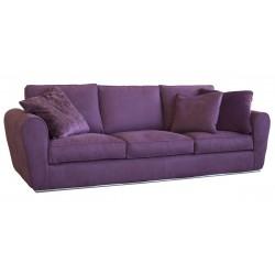 Canapé 4 places microfibre premium épaisse coloris prune