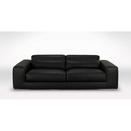 destockage canap 3 places noir cuir premium 2 mm - Destockage Canape Cuir