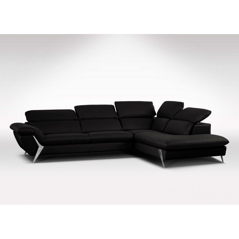 grand canap d 39 angle m ridienne 6 places cuir haut de gamme. Black Bedroom Furniture Sets. Home Design Ideas