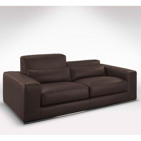 Canapé cuir marron 2 places - canapés de luxe à prix usine Matisse Verysofa