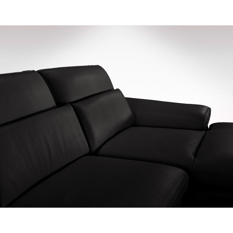 Canape Angle Meridienne Cuir: Canapé D'angle En Cuir De Vachette Haut De Gamme