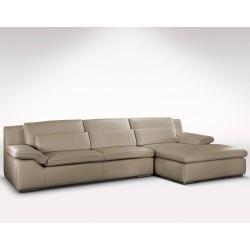 Canapé d'angle grande méridienne en cuir haut de gamme italien