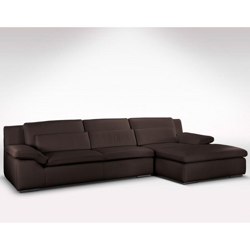 canap d 39 angle en cuir de vachette haut de gamme. Black Bedroom Furniture Sets. Home Design Ideas
