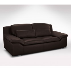 Canapé cuir marron 2 places sofa italien direct usine Verysofa