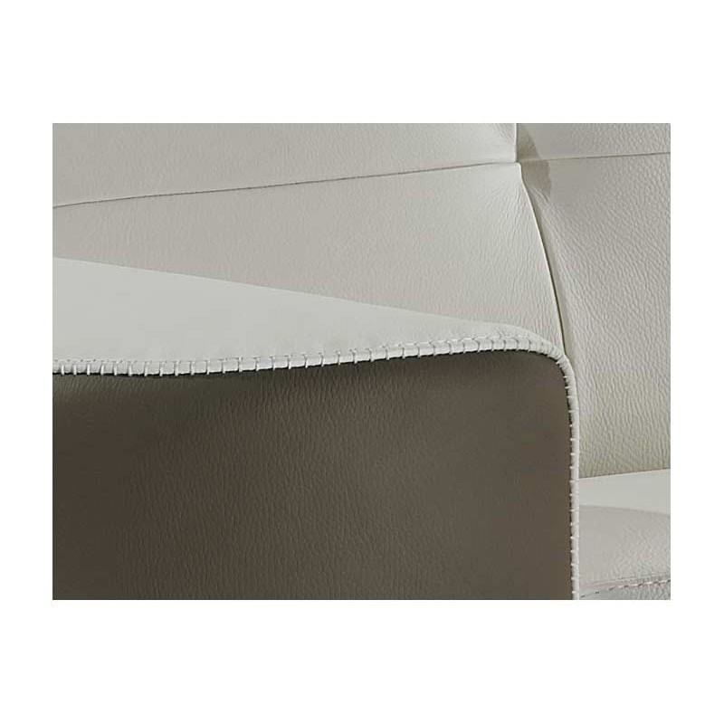 Canap lit convertible cuir bicolore rapido verysofa vanity for Canape lit cuir