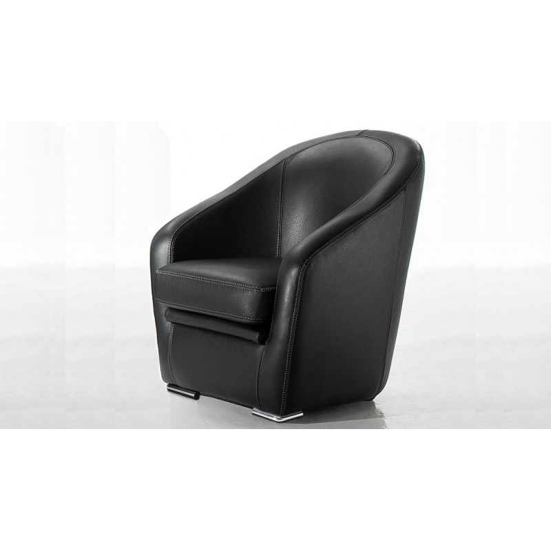 nola fauteuil club en cuir design fait en italie. Black Bedroom Furniture Sets. Home Design Ideas