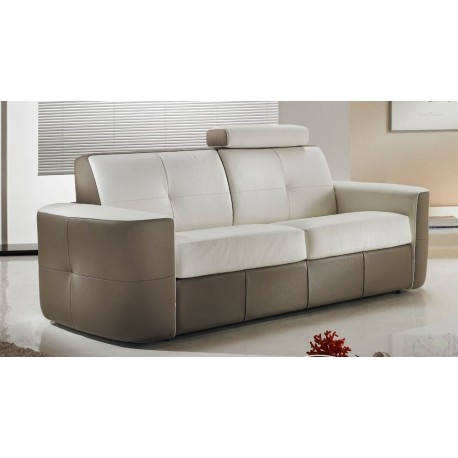 canap cuir capitonn bicolore 30 direct usine verysofa. Black Bedroom Furniture Sets. Home Design Ideas