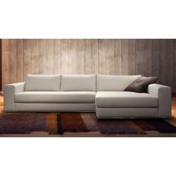 Canapé d'angle en tissu haut de gamme italien