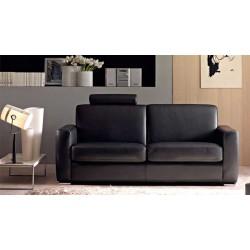 Canapé design en cuir de vachette noir