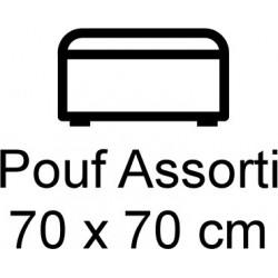 Pouf en cuir 70 x 70 cm