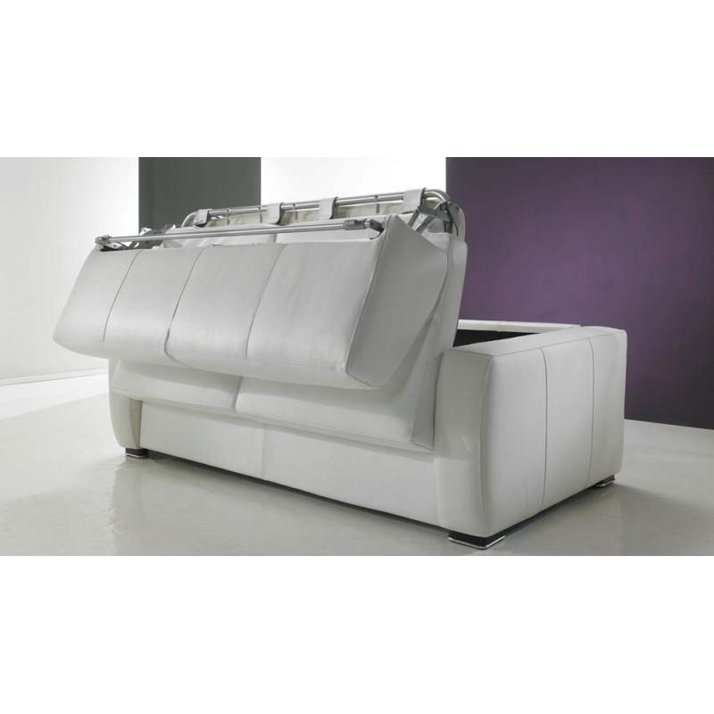 Canap lit rapido en cuir de vachette pas cher for Canape cuir france