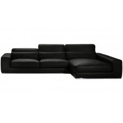 Canapé d'angle de luxe en cuir haut de gamme