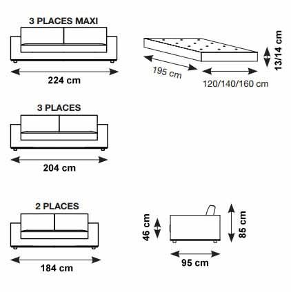 canap convertible cuir haut de gamme ouverture express verysofa. Black Bedroom Furniture Sets. Home Design Ideas
