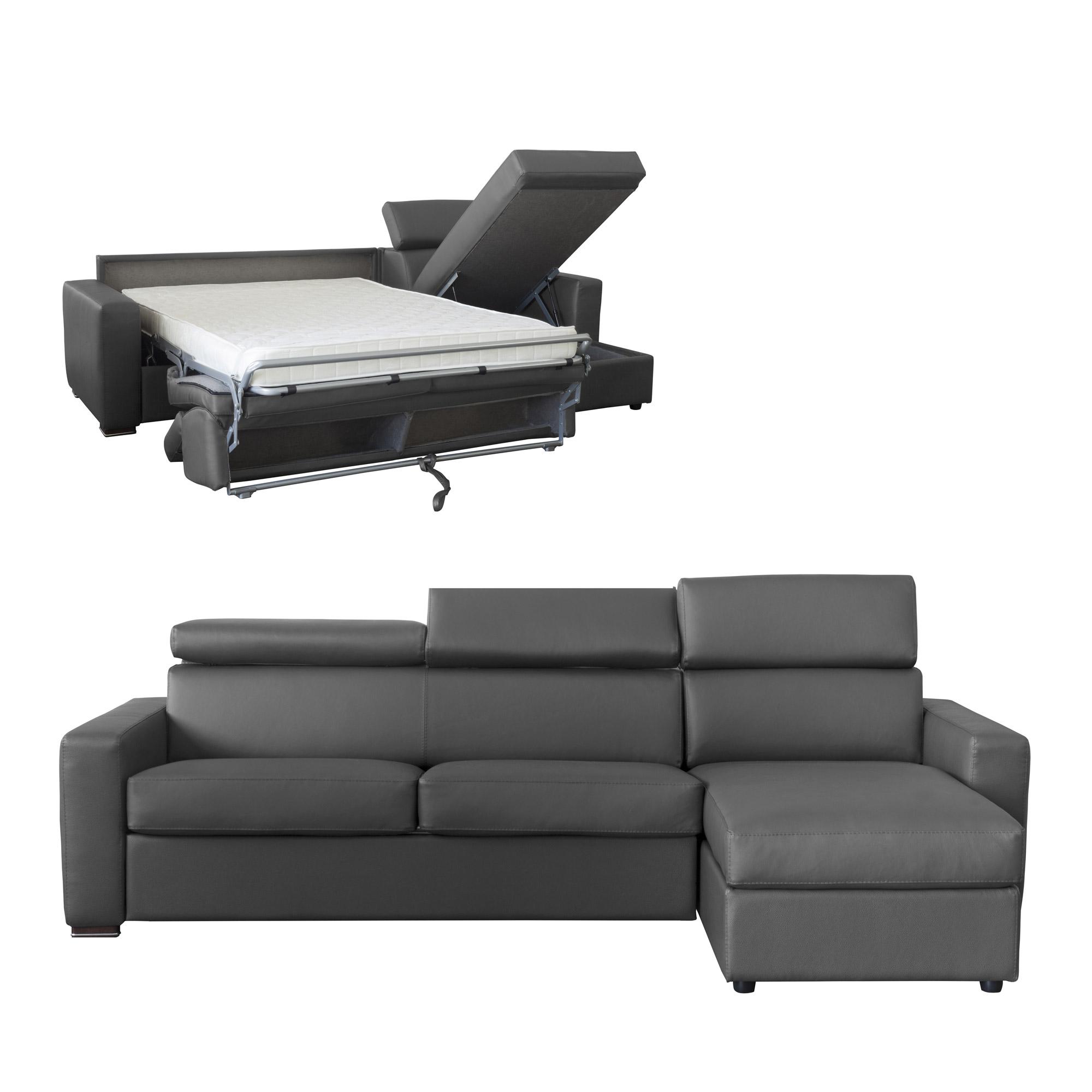 Canapé d'angle convertible et réversible en cuir [Meilleur ...