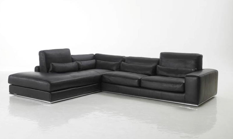 canap d 39 angle m ridienne haut de gamme en cuir verysofa. Black Bedroom Furniture Sets. Home Design Ideas