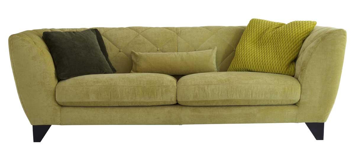 canap en tissu vert d houssable nouveaut. Black Bedroom Furniture Sets. Home Design Ideas