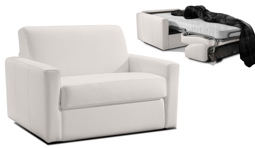 fauteuil convertible 1 place cuir dream par verysofa promo. Black Bedroom Furniture Sets. Home Design Ideas