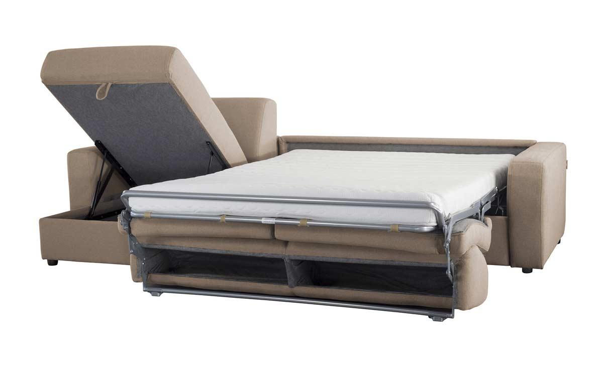 Canap d 39 angle convertible r versible en tissu coton pas cher - Canape lit confortable ...